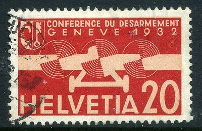 SWITZERLAND;  1932 early AIR issue fine used 20c. value,  shade