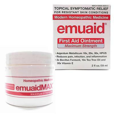 NEW Emuaid MAX First Aid Ointment 2oz Fights Infection Eczema Skin Healing Ivy