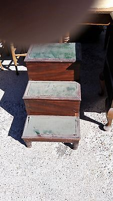 Moms' Antique Treasures - Oak Bed steps with toilet-Colonial