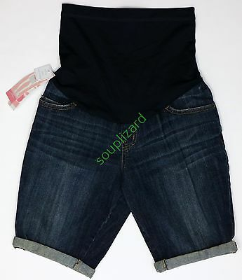 NEW Maternity Shorts Jean Denim Women's Liz Lange NWT Size Sz 507214 Summer