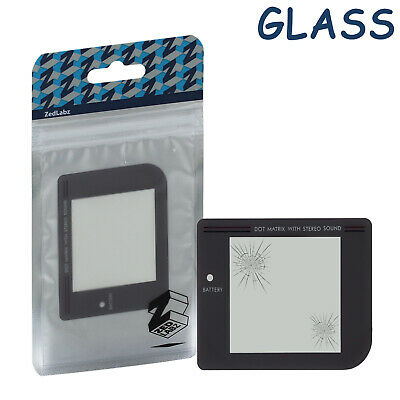 ZedLabz clear glass screen lens cover for Game Boy original DMG-01 with adhesive