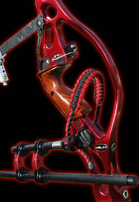 Ridgerunner Slings Custom Paracord Bow Wrist Sling Cobra Stitch  Red and Black
