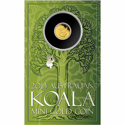 2013 $2  koala miniature gold coin PERTH MINT