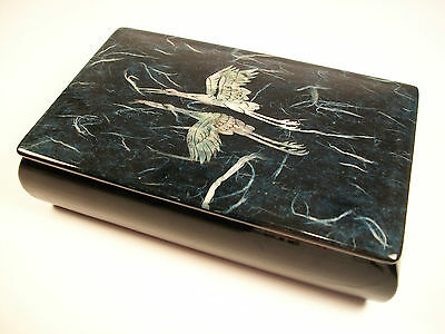 Vintage Mother-of-Pearl & Lacquer Box - Unsigned - Korea - Late 20th Century