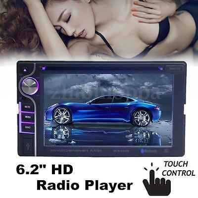 6.2'' HD In Dash Stereo Car CD DVD Player Touch Screen Radio Bluetooth MP3 HOT