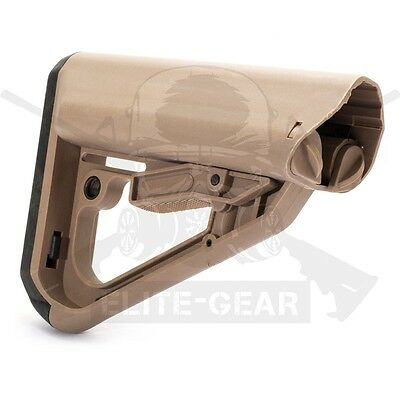 Dark Earth TI-7 Collapsible Polymer Buttstock Tactical Butt Stock w/ QD Socket