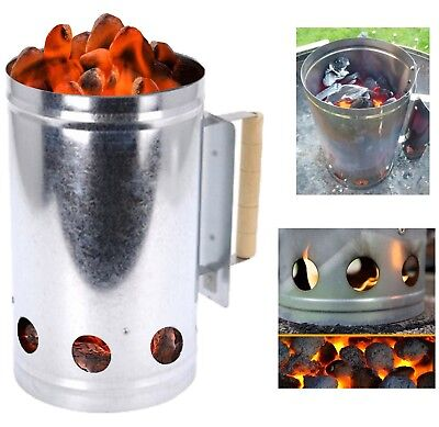 Chimney Charcoal Starter Lighting Kit Barbeque BBQ Grill Lighter Burner