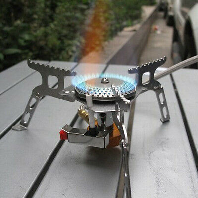 3500W Portable Foldable Outdoor Camping Picnic BBQ Gas Burner Mini Steel Stove