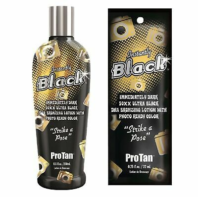 Pro Tan - Instantly Black - Sunbed Tanning Lotion Cream - Sachet Or Bottle