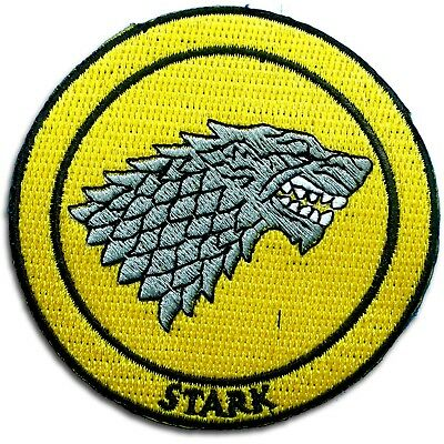 Game of Thrones Stark House Patch Iron on Movies Badge Sew Embroidered Sigil Cap