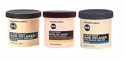 TCB No Base Creme Hair Relaxer With Protein Super Mild Regular Strength UK 425g