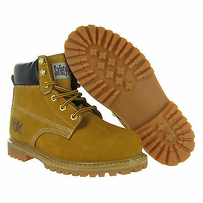 Safety Girl Steel Toe Womens Work Boots - Tan - Waterproof