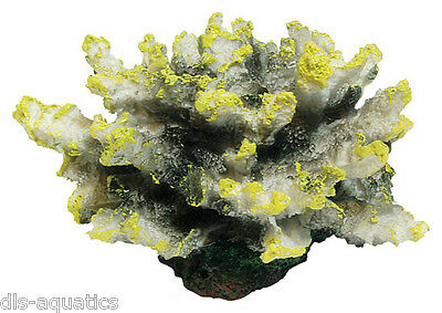 Yellow Coral Aquarium Fish Tank Ornament Decoration AQ61004