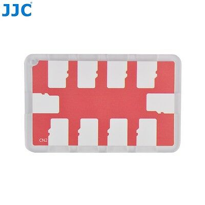 JJC Memory Card Case for 10x microSD Cards - Red Edition - MCH-MSD10