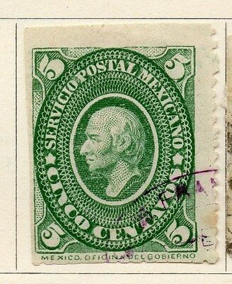 Mexico 1884 Early Issue Fine Used 5c. 063182