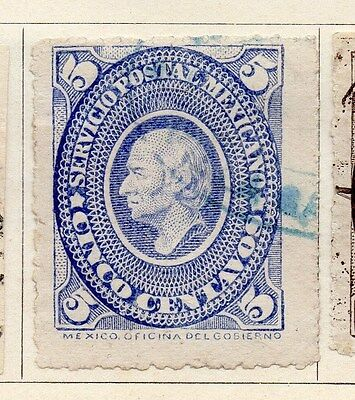 Mexico 1885 Early Issue Fine Used 5c. 063190