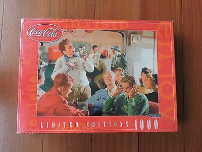 Sealed in Box 2001 Coca Cola Brand Limited Edition 1000 Piece Puzzle by Rose Art