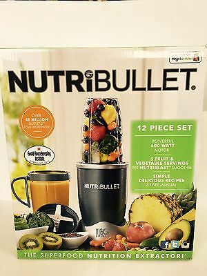 NutriBullet 600W Juicer Blender Nutrition Extractor- Grey.UK Seller-100%Original