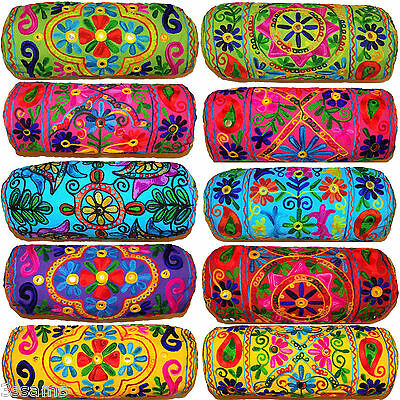 """Beautiful Bolster Round Cylinder Cushion Cover Pillow Case 6x16"""" Ethnic Indian"""