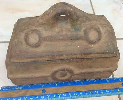 Antique Rectangular box made of terracotta. #box