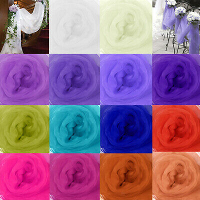 5M Top Table Swags Sheer Organza Fabric DIY Tulle Wedding Party Stair Decoration
