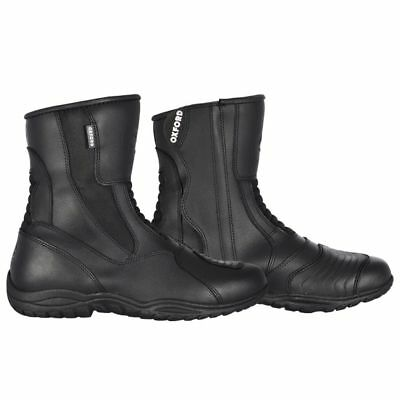 Oxford Hunter Waterproof Leather Touring Scooter Motorcycle Boots - Unisex