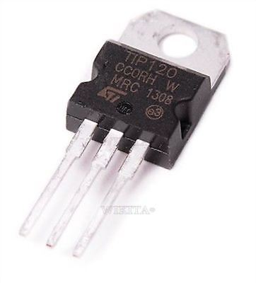 10Pcs Npn Tip120 To-220 Darlington Transistor New Ic G
