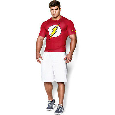 Under Armour Alter Ego Compression Flash Mens Base Layer Top - Red All Sizes