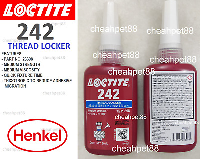 LOCTITE 242 Blue Medium Strength Thread Locker 50ml - Free Shipping