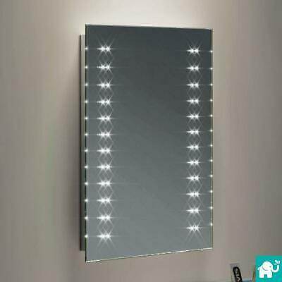 390 x 500 Wall Mounted Light Up Rectangle LED Battery Powered Bathroom Mirror
