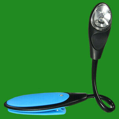 Portable Travel Lightweight LED Battery Powered Book Clip On Reading Light Lamp