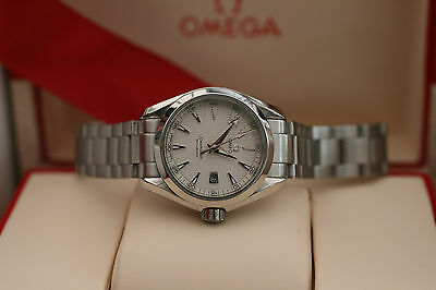 Omega Seamaster Aqua Terra 2015 Silver Face Stainless Steel Ladies 29mm 9.8/10