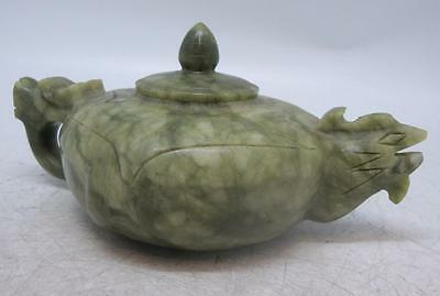 Solid Hand Carved Chinese Jade / Hardstone Teapot - Oriental