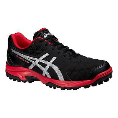 Asics Gel-Lethal Field 2 Mens Hockey Shoes Black/Silver/Fiery Red 2015