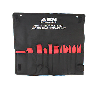 ABN Premium Auto Trim Removal Tool Kit - 11 Piece Pry Bar Set , Fastener Remover