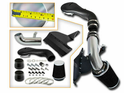 Cold Heat Shield Air Intake + BLACK Filter for 96-01 GMC Jimmy 4.3L V6