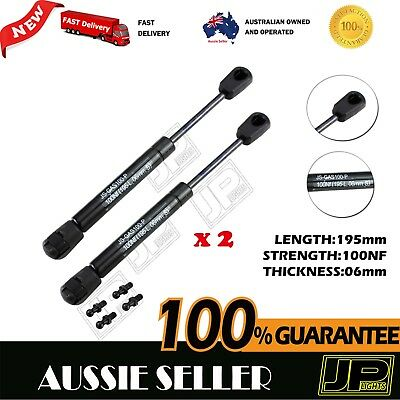 GAS STRUTS PAIR 100NF 195mm (6mm shaft) CAMPER TRAILER CARAVAN CANOPY TOOLBOX