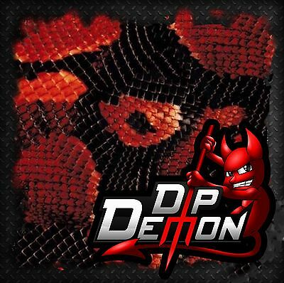 Dip Demon Red Boa Snake Skin Hydrographic Water Transfer Film Hydro Dipping