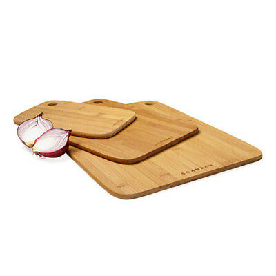 100% Genuine! SCANPAN Bamboo Cutting Chopping Board 3 Piece Set! RRP $42.95!