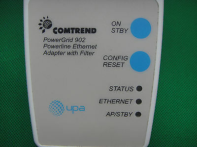 Comtrend UPA Powerline PowerGrid 902 Ethernet Network Booster Adapter w/ Filter