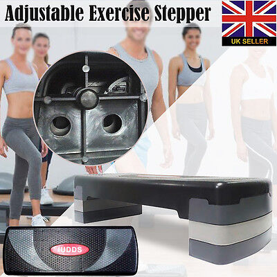 3 Level Adjustable Aerobic Stepper Height Exercise  Fitness Step Gym Yoga Board