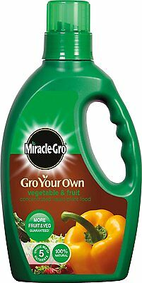 Miracle-Gro Gro Your Own Fruit & Vegetable Concentrated Liquid Plant Food 1L