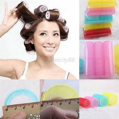 DIY Big Self Grip Hair Rollers Cling Any Size Hair Curlers New 6Pcs/Set Stylish