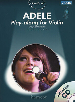 Adele Play-Along for Violin Guest Spot Music Book/Backing Tracks CD