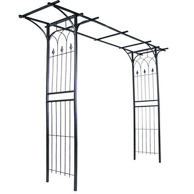 Rose Arch Trellis Garden Pergola Archway Wedding Flowers Climbing Plants Black