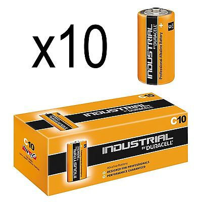 10 Duracell C Industrial Alkaline Batteries 1.5V Lr14 Replaced Procell