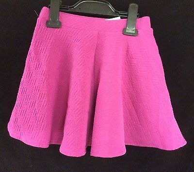Young Girl Fuchsia Pink Flared Skirt Size 5 6 7 8 9 10 11 12 13 14 Years