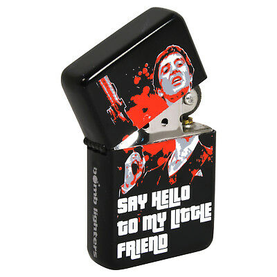Scarface Say Hello Windproof Lighter. Fliptop Refillable Gift for Him