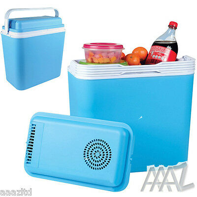 22L Portable Coolbox Fridge Caravan Camping Cold Coller Cool Box 12V Electric
