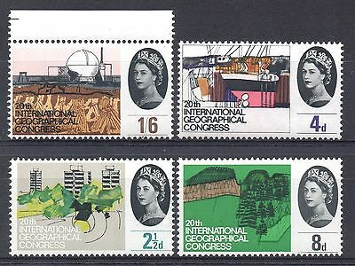 GB = 1964 `Geographical Congress` Set/4. SG 651/4. MNH.